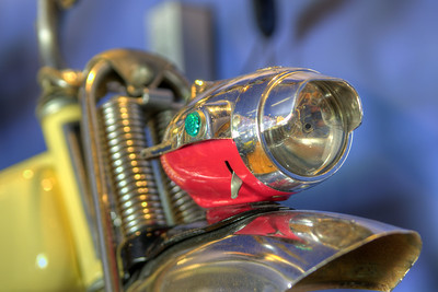 The front headlight of a 1958 Murray Model P-28 bicycle at the Little Congress Bicycle Museum in Cumberland Gap, TN on Friday, June 12, 2015. Copyright 2015 Jason Barnette