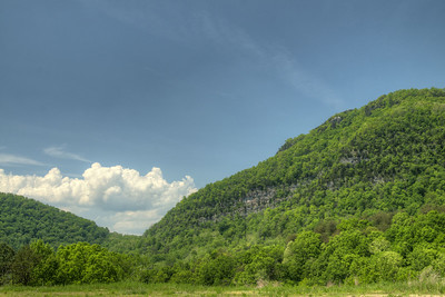 A view of the gap in the mountain range in Cumberland Gap, TN on Saturday, May 9, 2015. Copyright 2015 Jason Barnette