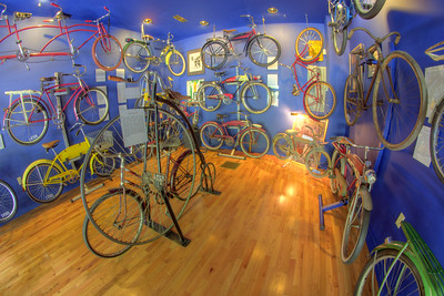 Dozens of bicycles on display at the Little Congress Bicycle Museum in Cumberland Gap, TN on Friday, June 12, 2015. Copyright 2015 Jason Barnette