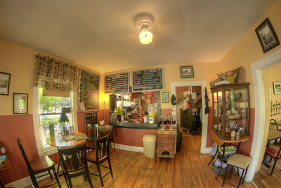 The interior of the locally owned Gap Creek Coffeehouse in Cumberland Gap, TN on Saturday, May 9, 2015. Copyright 2015 Jason Barnette