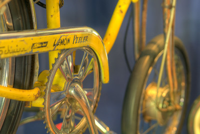 "A 1973 Schwinn Sting-Ray ""Lemon Peeler"" bicycle at the Little Congress Bicycle Museum in Cumberland Gap, TN on Friday, June 12, 2015. Copyright 2015 Jason Barnette"