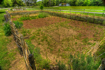 A demonstration garden showing Appalachian life at Davy Crockett Birthplace State Park in Limestone, TN on Monday, May 7, 2012. Copyright 2012 Jason Barnette