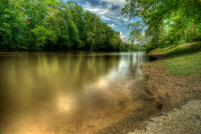 View of the Nolichucky River at Davy Crockett Birthplace State Park in Limestone, TN on Monday, May 7, 2012. Copyright 2012 Jason Barnette