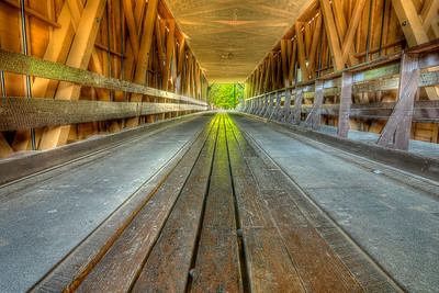 Interior view of the Covered Bridge, built in 1882 and one of the few remaining covered bridges in the state across the Doe River in downtown Elizabethton, TN on Sunday, May 6, 2012. Copyright 2012 Jason Barnette