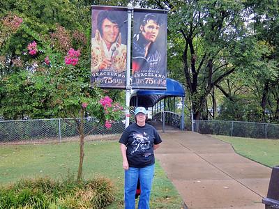 Pat at Elvis Presley's Graceland in Memphis, Tennessee