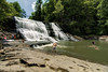People enjoy the sun and water at Cane Creek Cascades at Fall Creek Falls State Park in Spencer, TN on Thursday, July 16, 2015. Copyright 2015 Jason Barnette
