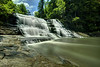 Rushing water tumbles over the Cane Creek Cascades at Fall Creek Falls State Park in Spencer, TN on Thursday, July 16, 2015. Copyright 2015 Jason Barnette