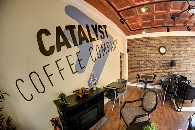Contemporary decor inside the Catalyst Coffee Company on Main Street in Greeneville, TN on Friday, June 6, 2014. Copyright 2014 Jason Barnette
