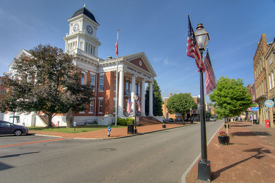 The historic Washington County Court House on Main Street in downtown Jonesborough, TN on Friday, June 6, 2014. Copyright 2014 Jason Barnette