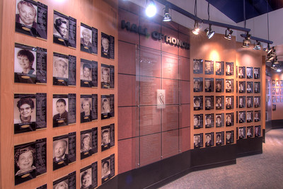 The Hall of Honor at the Women's Basketball Hall of Fame in Knoxville, TN on Tuesday, December 16, 2014. Copyright 2014 Jason Barnette