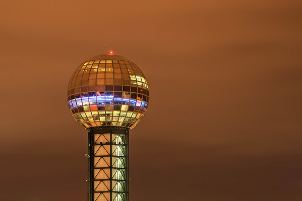 The Sunsphere, which includes the Observation Deck, Icon Ultra Lounge, and offices, in Knoxville, TN on Tuesday, December 16, 2014. Copyright 2014 Jason Barnette
