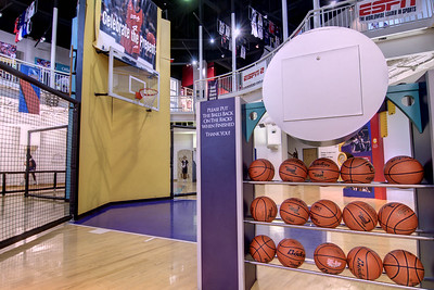 A basketball court where children can play at the Women's Basketball Hall of Fame in Knoxville, TN on Tuesday, December 16, 2014. Copyright 2014 Jason Barnette