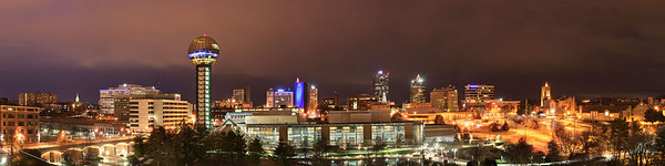 The downtown skyline view in Knoxville, TN on Tuesday, December 16, 2014. Copyright 2014 Jason Barnette