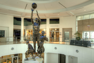 A towering statue in the entrance atrium of the Women's Basketball Hall of Fame in Knoxville, TN on Tuesday, December 16, 2014. Copyright 2014 Jason Barnette