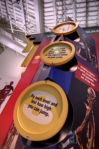 One of the many interactive exhibits at the Women's Basketball Hall of Fame in Knoxville, TN on Tuesday, December 16, 2014. Copyright 2014 Jason Barnette