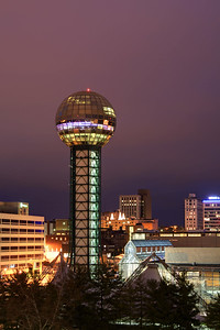 The Sunsphere in Knoxville, TN on Tuesday, December 16, 2014. Copyright 2014 Jason Barnette