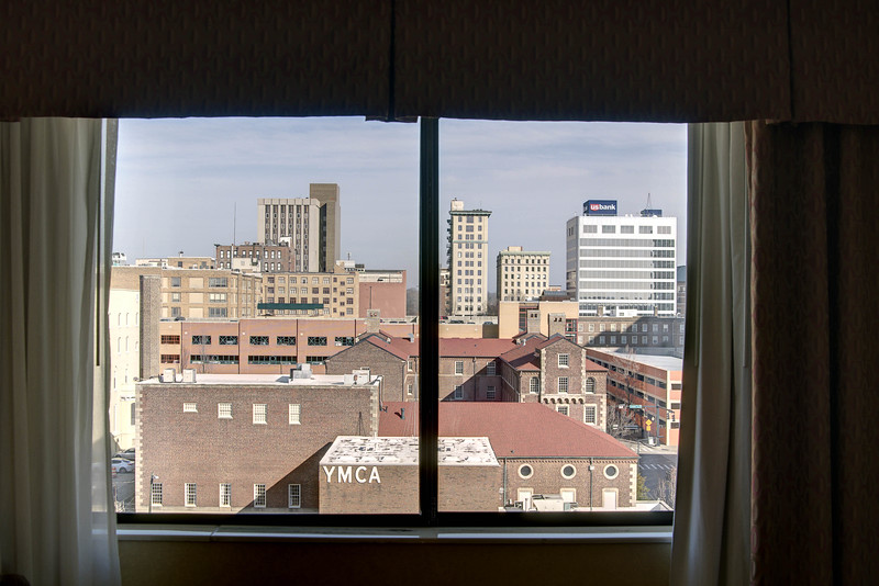 View from a hotel room at the Holiday Inn in Knoxville, TN on Monday, December 15, 2014. Copyright 2014 Jason Barnette