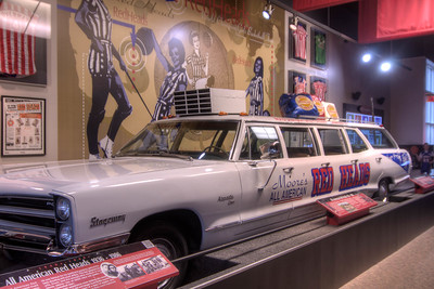 The original stretch car for the Red Heads women's team on display at the Women's Basketball Hall of Fame in Knoxville, TN on Tuesday, December 16, 2014. Copyright 2014 Jason Barnette