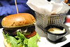 A thick hamburger at Not Watson's at Market Square in Knoxville, TN on Saturday, December 13, 2014. Copyright 2014 Jason Barnette