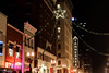 A Christmas star hangs over Gay Street in Knoxville, TN on Monday, December 15, 2014. Copyright 2014 Jason Barnette