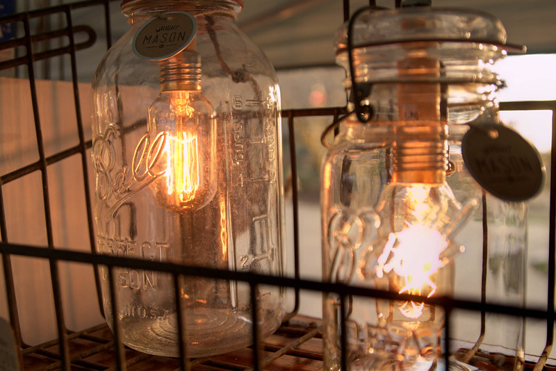 Beautiful lantern jars from Wright Mason at the Holiday Market at Market Square in Knoxville, TN on Saturday, December 13, 2014. Copyright 2014 Jason Barnette