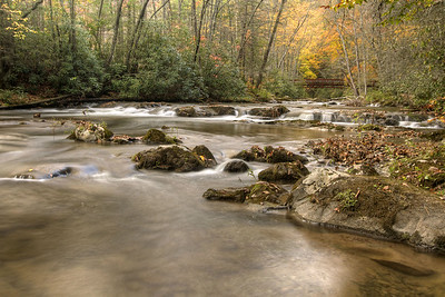 Water trickles over exposed rocks on the creek at the Laurel Creek Trail along Highway 91 in Laurel Bloomery, TN on Monday, October 20, 2014. Copyright 2014 Jason Barnette
