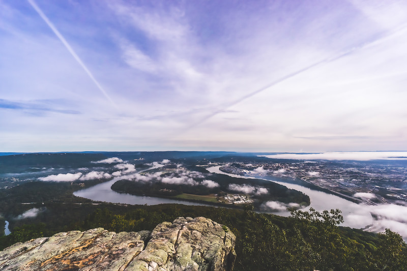 View of Chattanooga at Point Park on Lookout Mountain in Tennessee