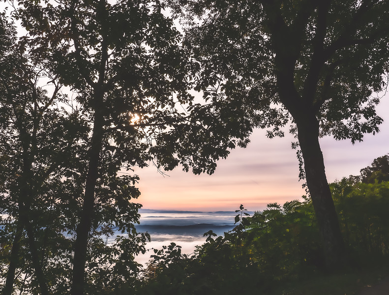Sunrise at Point Park on Lookout Mountain in Tennessee