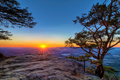 Sunset Rock in Lookout Mountain, TN