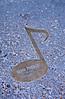 Walk of fame note in sidewalk of Elvis Presleyin Memphis, Tennessee, USA.