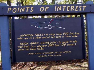 Jackson Falls Information Sign