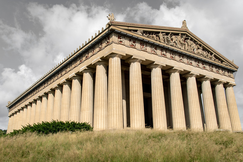 usa, tennessee, nashville, centenial park, architecture, buildings, columns,  parthenon