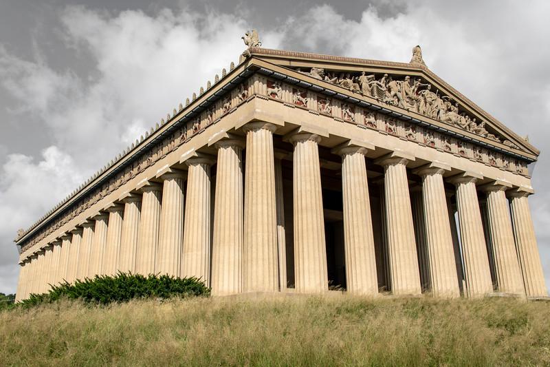 usa, tennessee, nashville, centenial park, architecture, buildings, columns,  parthenon