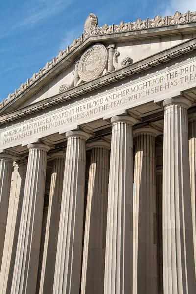 usa, tennessee, nashville, architecture, buildings, columns,  war memorial auditorium