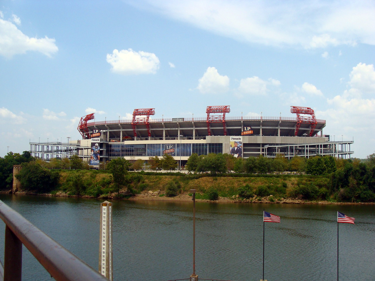 Titan Stadium on the Cumberland River