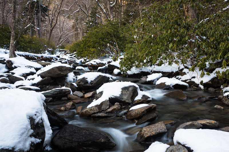 Little Pigeon River Snow