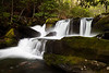 One of the many beautiful waterfalls along the Middle Prong of the Little River. Great Smoky Mountains National Park, TN<br /> <br /> <br /> <br /> TN-120413-0305
