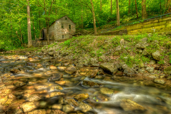 The Rice Grist Mill, built in 1798 along Lost Creek in Union County and moved to this site in after 1953 at Norris Dam State Park in Lake City, TN on Thursday, April 26, 2012. Copyright 2012 Jason Barnette