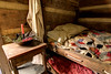 A bedside Christmas display inside the Mark Twain Family Cabin at the Museum of the Appalachia in Norris, TN on Saturday, December 13, 2014. Copyright 2014 Jason Barnette