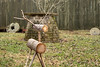Reindeer constructed from logs and twigs outsid the Mark Twain Family Cabin at the Museum of the Appalachia in Norris, TN on Saturday, December 13, 2014. Copyright 2014 Jason Barnette