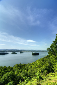 View looking across Cherokee Lake from the observation deck at the top of Panther Creek State Park in Morristown, TN on Tuesday, May 28, 2013. Copyright 2013 Jason Barnette