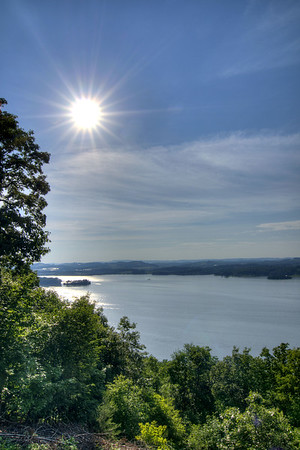 The sun gets lower in sky across Cherokee Lake at Panther Creek State Park in Morristown, TN on Tuesday, May 28, 2013. Copyright 2013 Jason Barnette