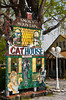 A sign for a Cat House shop selling feline supplies in Pigeon Forge, Tennessee, USA.
