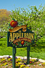 The sign for the Apple Barn and Cider Mill in Pigeon Forge, Tennessee, USA.