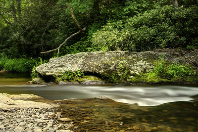 Water rushes down a stream through Roan Mountain State Park in Roan Mountain, TN on Sunday, June 14, 2015. Copyright 2015 Jason Barnette
