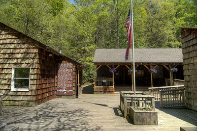 The visitors center at Roan Mountain State Park in Roan Mountain, TN on Wednesday, May 15, 2013. Copyright 2013 Jason Barnette