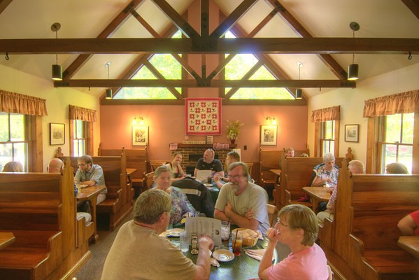 People enjoy lunch at the Harrow Road Cafe in Historic Rugby, TN on Saturday, May 25, 2013. Copyright 2013 Jason Barnette