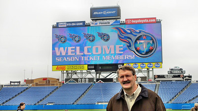 Tennessee Titans' LP Field Stadium Tour March 7, 2013 - Playing Field with Live Video Board