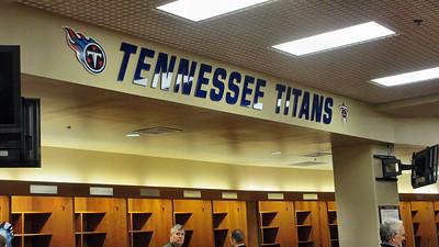 Tennessee Titans' LP Field Stadium Tour March 7, 2013 - Titans' Locker Room