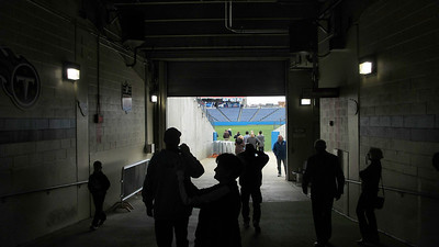 Tennessee Titans' LP Field Stadium Tour March 7, 2013 - Tunnel to the playing field